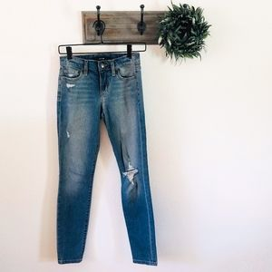 Joes Jeans Skinny Ankle Distressed Jeans 24